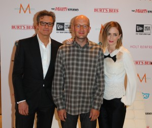Colin Firth, Dante Ariola and Emily Blunt