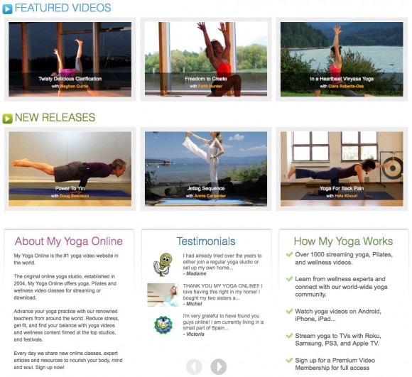 My Yoga Online Screen Shot 5