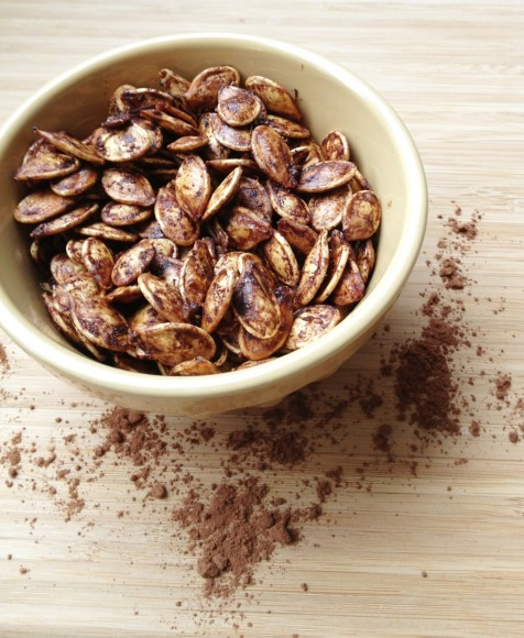 Roasted Chocolate Pumpkin Seeds