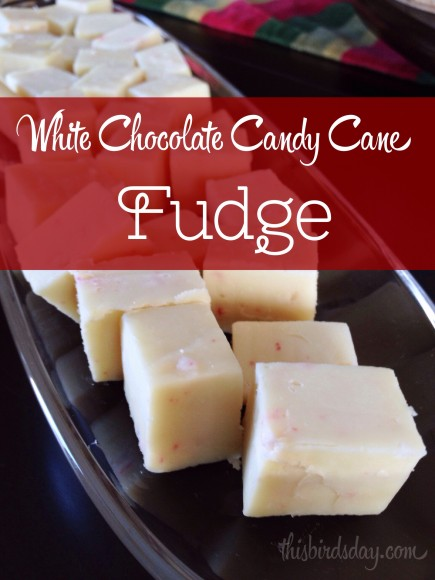 White Chocolate Candy Cane Fudge Recipe for the Christmas holiday