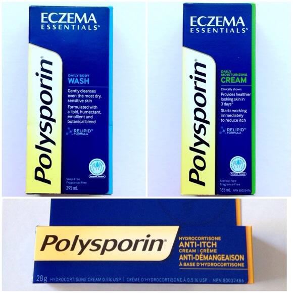 polysporin,eczema,essentials,body wash,moisturizure,cream,anti-itch
