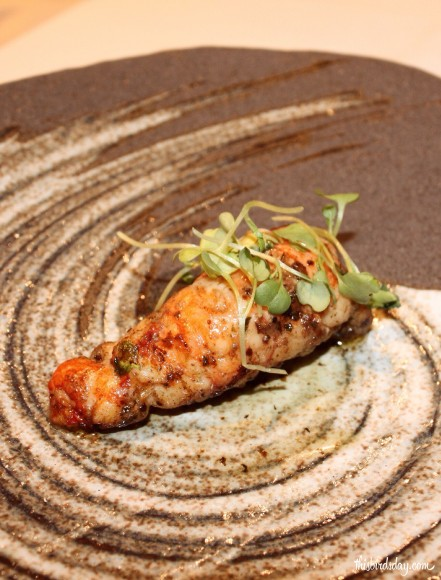 The grilled Icelandic langoustine tails with garlic and herbs was by far my favourite dish.