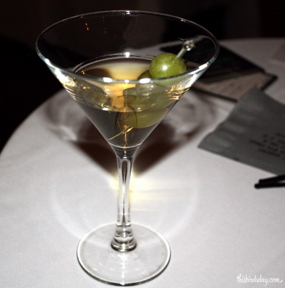 This Icelandic cocktail is made with 3/4 Reyka Vodka, 1/4 Disaronno, 1oz Ice Wine. Shaken with ice and strained into a chilled martini glass and garnished with three white frozen grapes.
