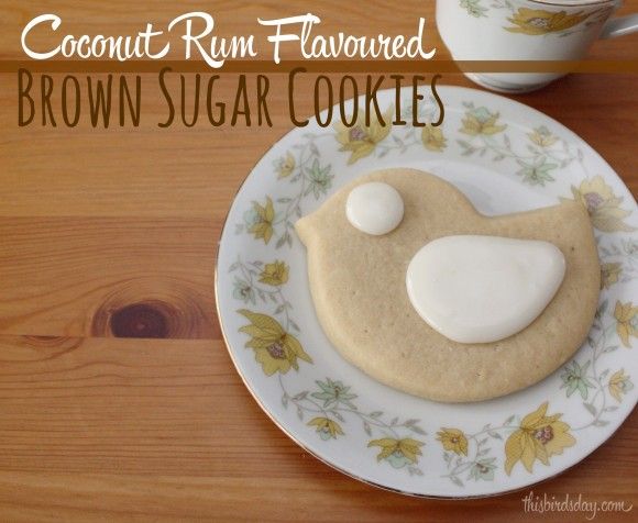 Coconut Rum Brown Sugar Cookie Recipe