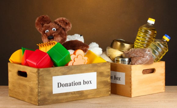 Donation Box Donation box with food and children's toys - photo copyrights to © Africa Studio - Fotolia.com
