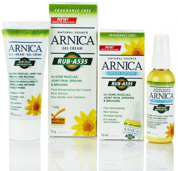 Rub A535 with Arnica to soothe aching muscles