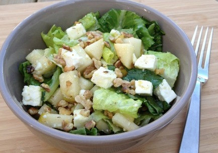 Pear Feta Walnut Salad Recipe