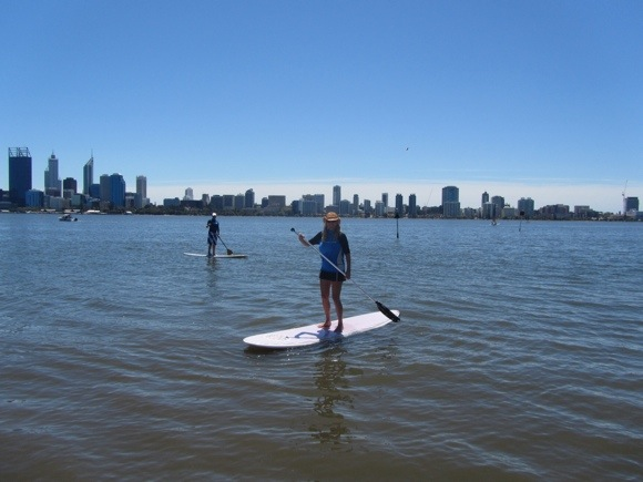 Paddle boarding in Perth