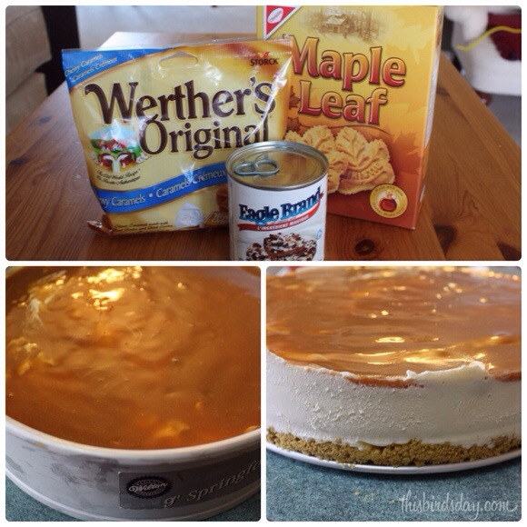 Ingredients for a maple caramel ice cream cake
