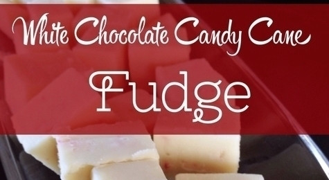 White Chocolate Candy Cane Fudge Recipe