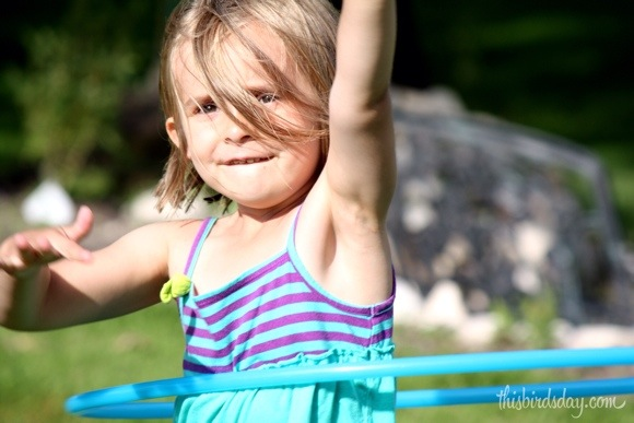 Learning to Hula Hoop. Photo Credit: Sheri Landry