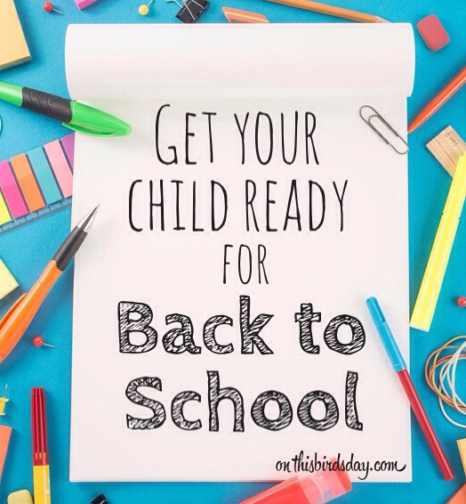 Back to school image for post on getting kids ready to return to school