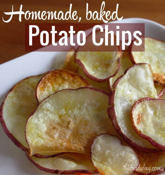 Baked homemade potato chips recipe