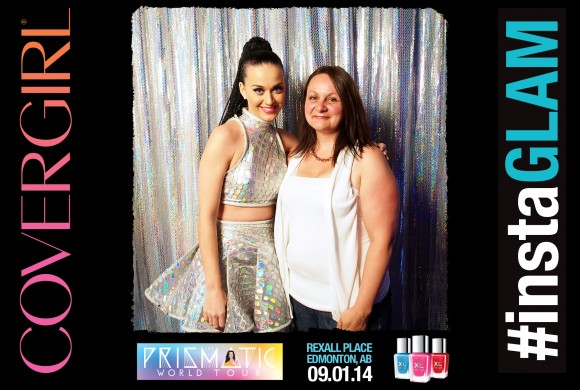 With Katy Perry at the Prismatic World Tour in Edmonton