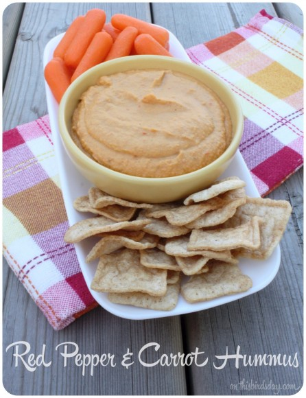 Red Pepper and Carrot Hummus Recipe