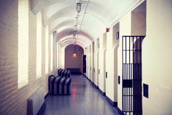 The old jail cell floor of the Ottawa Hostel. Photo credit: Hostelling International