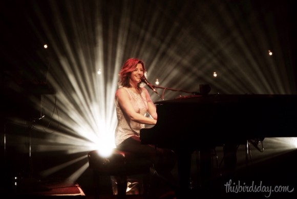 Sarah McLachlan on piano during her Shine On Tour in Edmonton