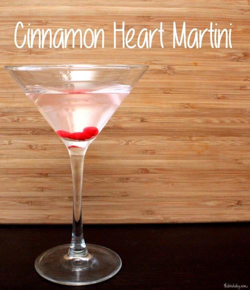 Cinnamon Heart Candy Martini for Valentine's Day