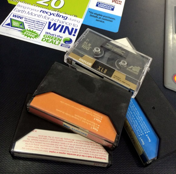 London Drugs Accepts Cassettes as part of their recycling program