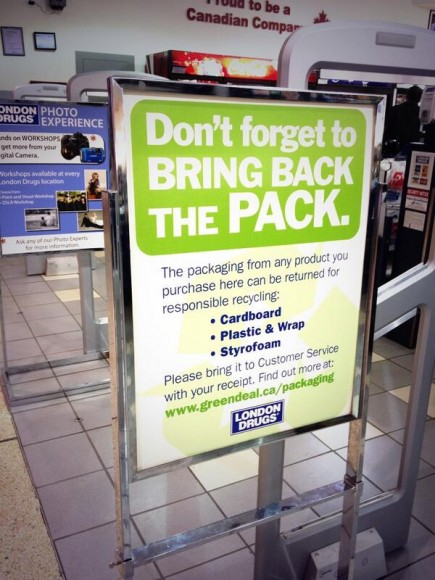 London Drugs Bring Back the Pack Recycling Program